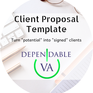 client proposal template widget circle