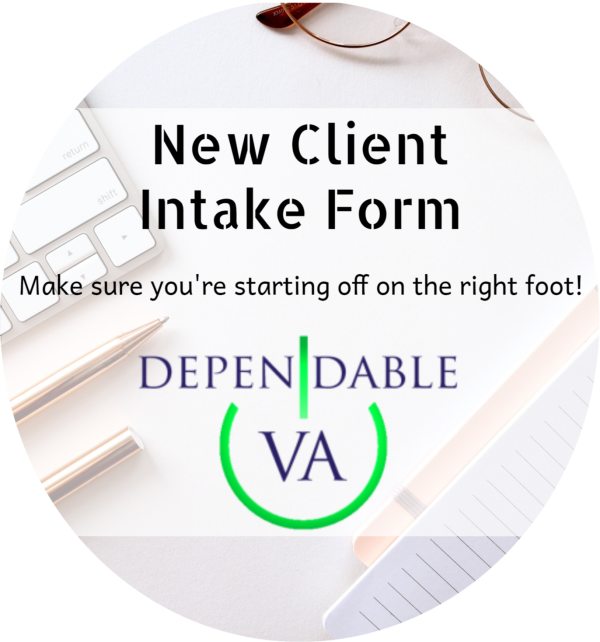 New Client Intake Form Widget Circle