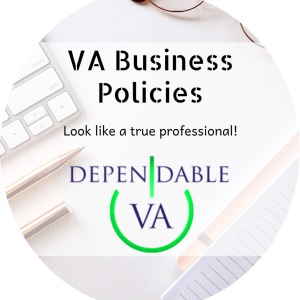 VA Business Policies Widget Circle